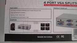 4 Port VGA Splitter MT2504 250MHz