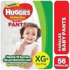 pañal huggies active sec verde todos los talles Mx68 Gx68 XGx58 XXGx56