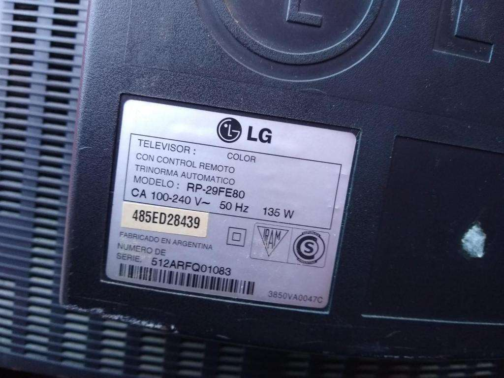 tv LG trinorma automatico FLATRON RP29FE80   PANTALLA PLANA--FUNCIONANDO