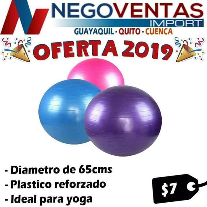 PELOTA DE YOGA DE 65 CMS IDEAL PARA DEPORTISTAS OFERTA 7,00