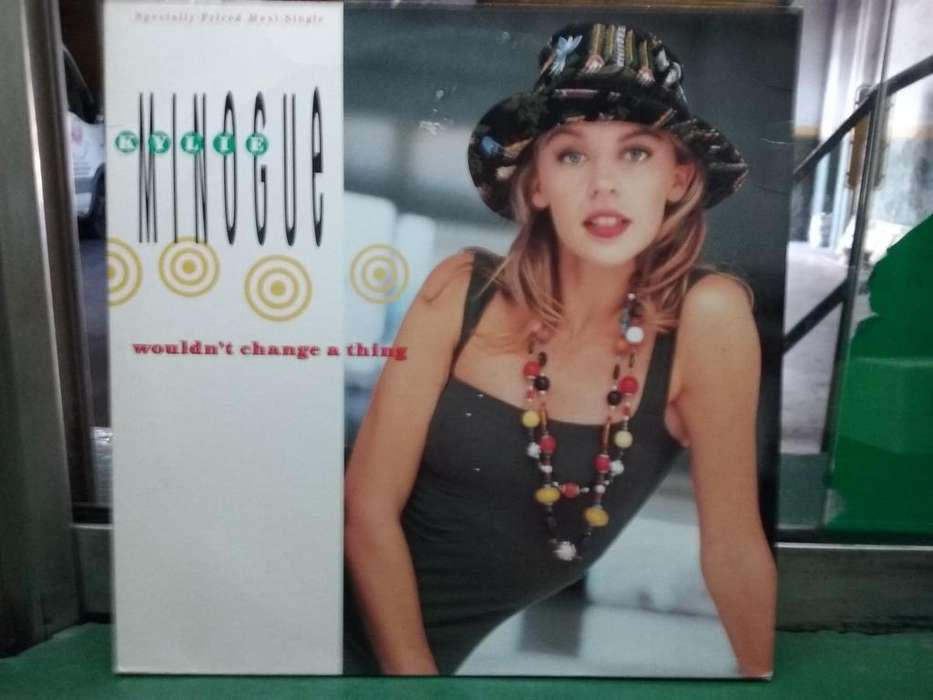 Kylie Minogue Wouldn't change a thing made in USA disco vinilo