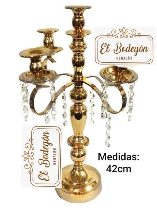 Candelabro Dorado 42cm
