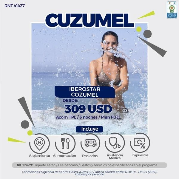 COZUMEL MEXICO 3 NOCHES DESDE 1.000.000 SIN TIQUETES  WWW WEBAVIAJAR COM 305 3263880