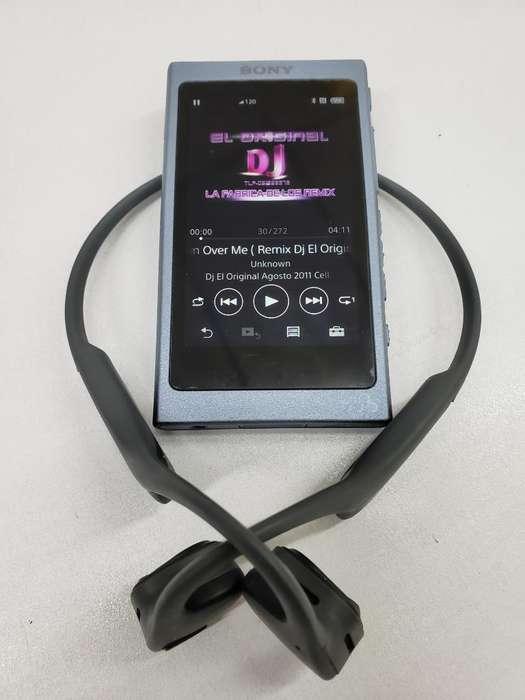 Reproductor Sony Nwa45 Y Audifonos Oseos