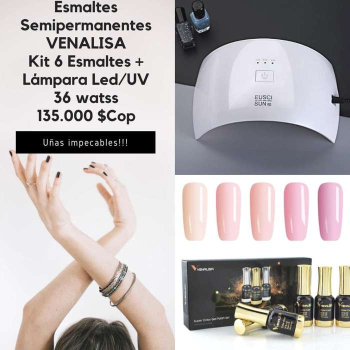 Kit Esmaltes Semipermane Y Lámpara Led