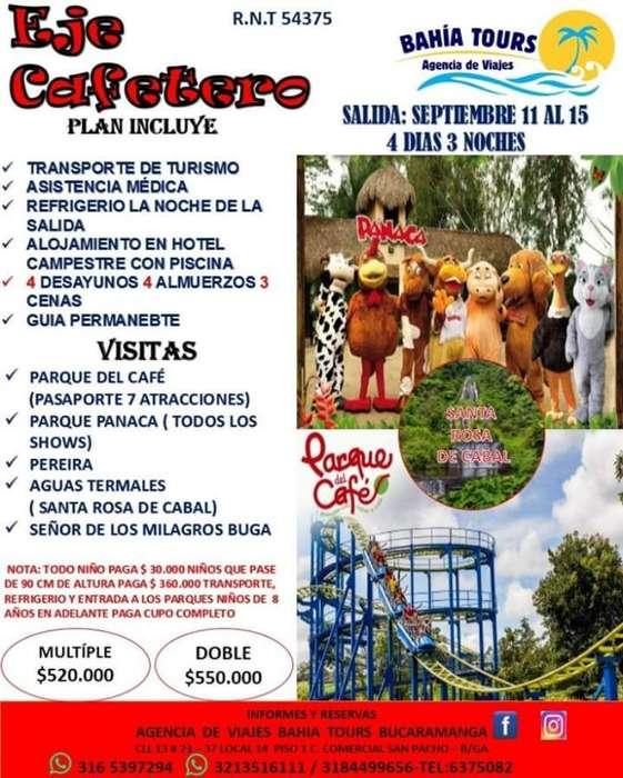 Tour Eje Cafetero Salidas 11 Y 18 de Sep