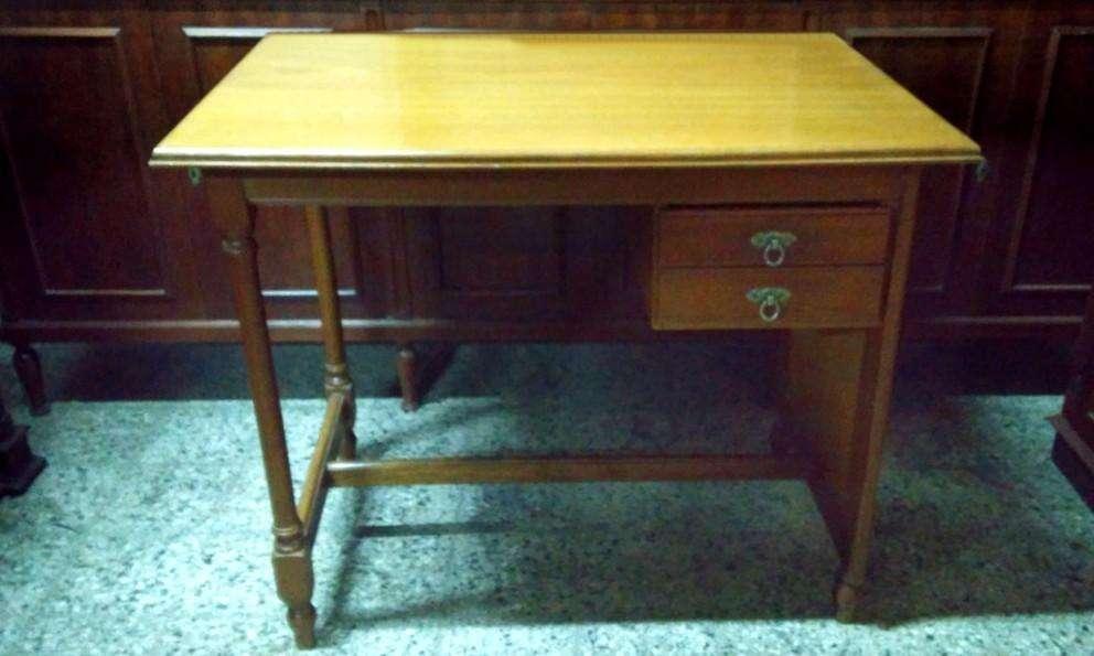 Precioso <strong>escritorio</strong> Ingles Chico Con Dos Cajones