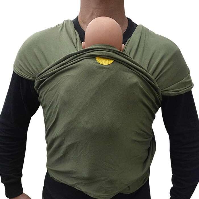 Fular para bebe verde oliva REF 2304
