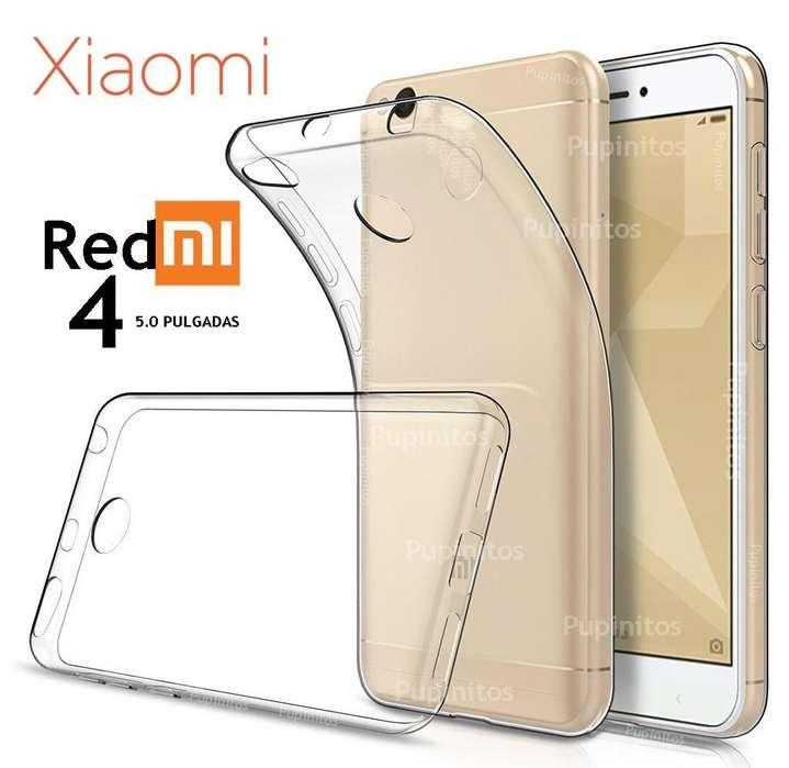 Funda Tpu Cover Silicona Flexible Xiaomi Redmi 4 Rosario