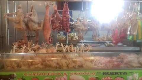 Puesto de venta de Carne y Pollo