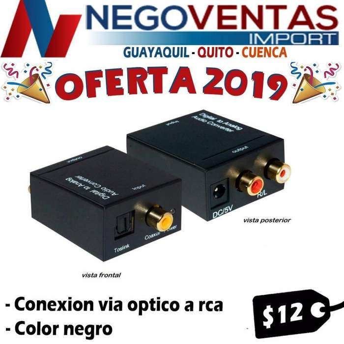 CONVERTIDOR DE AUDIO OPTICO