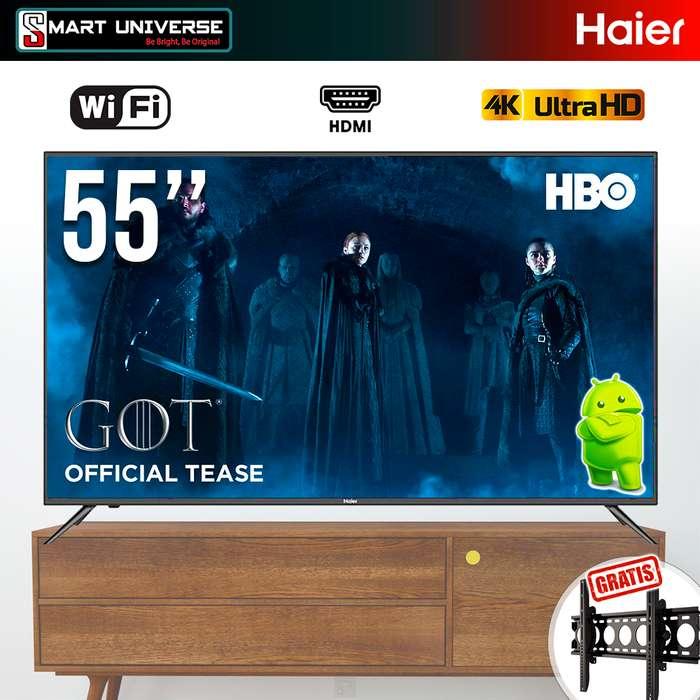 Televisor Led Haier 55 Pulgadas 4k Uhd Smart Tv Android Wifi