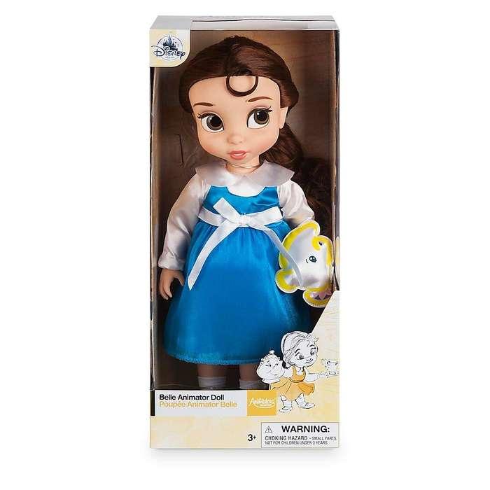 Disney Animators' Collection Belle Doll - Muñeca de 17.7 in