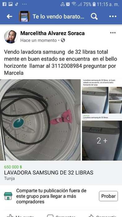 Lavadora Samsung de 32 Libras