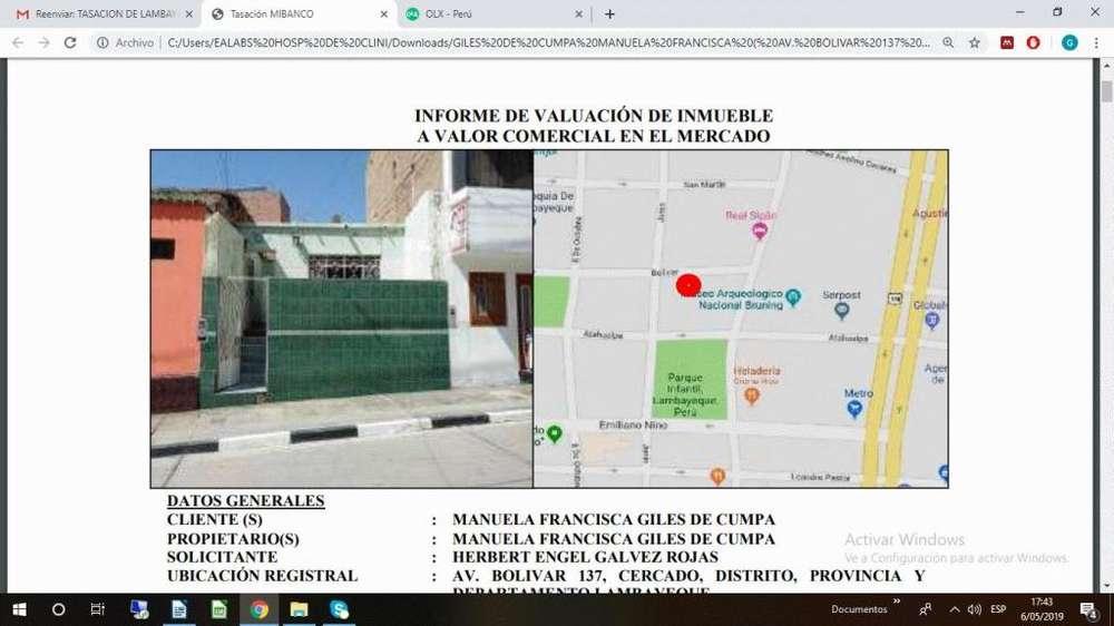 VENDO CASA EN PLENO CENTRO DE LAMBAYEQUE PLAZA DE ARMAS