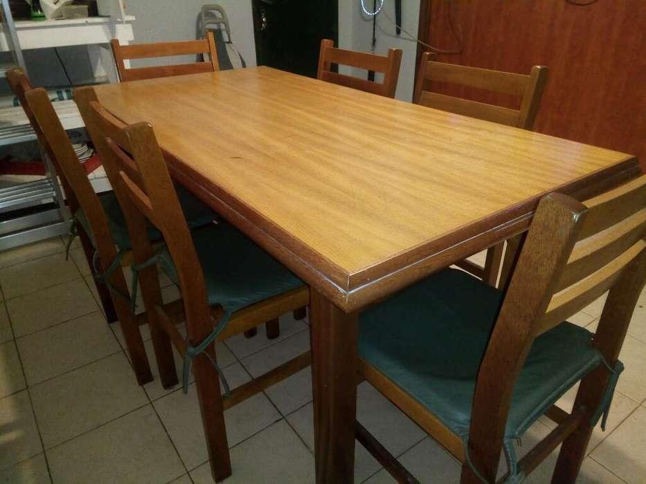 Mesa Comedor con 6 <strong>silla</strong>s