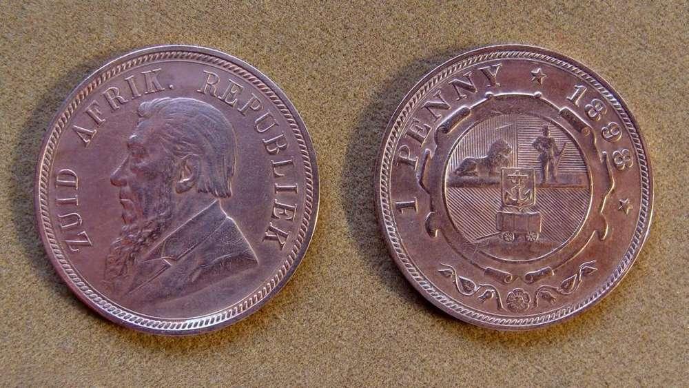 Moneda de 1 penique Sudáfrica 1898