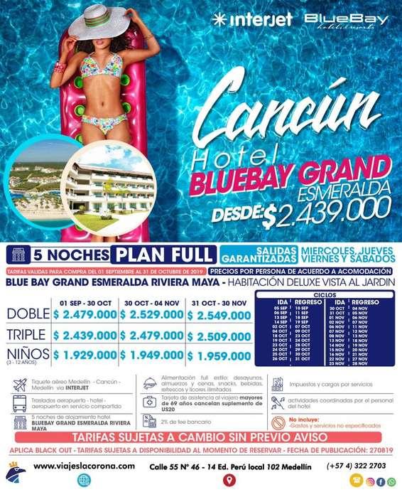 Viaje como un Rey a Cancún H. BLUEBAY GRAND ESMERALDA con Viajes la Corona