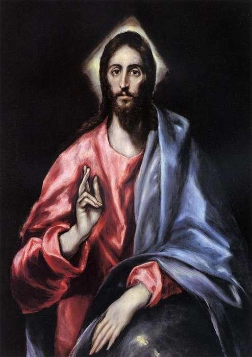 El Greco: Cristo bendición (Jesús, Salvador del mundo).