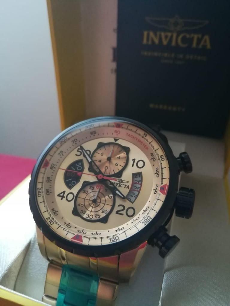497787c964be Reloj Invicta Aviator dorado