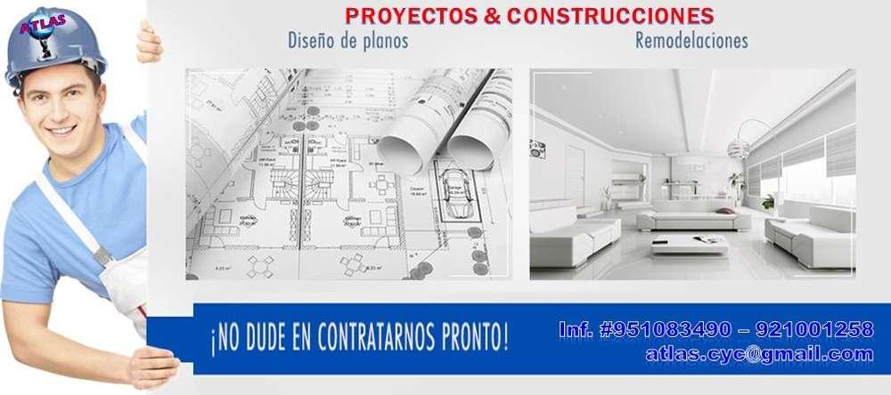 Construcciones de albañilería, drywall, metálicas, madera, vidrio, aluminio