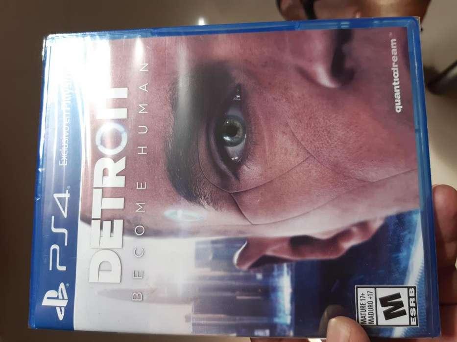 Se vende juego Detroit Become Human para playstation 4