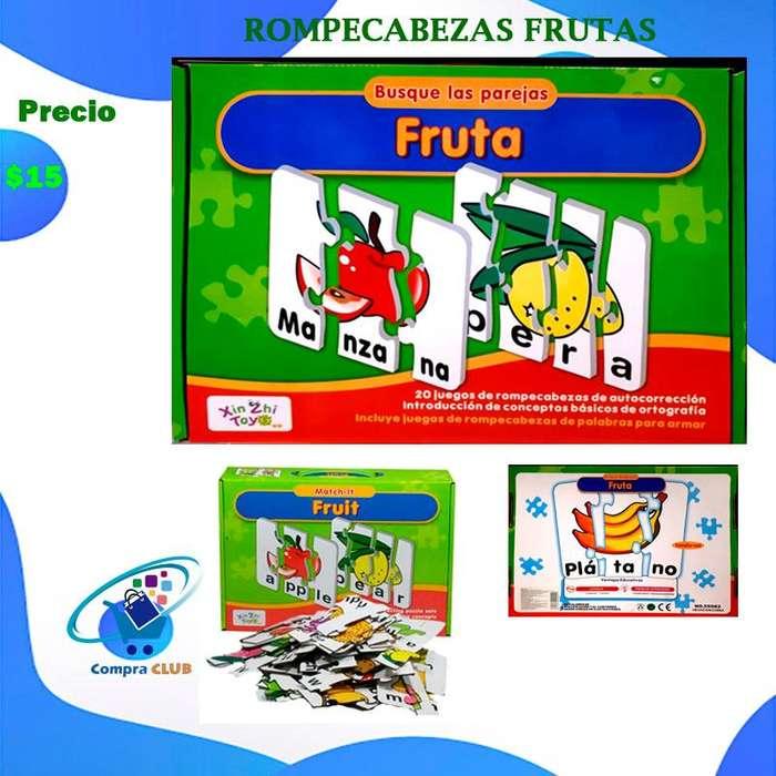 Rompecabezas juguete didactico para bebes y niños aprendizaje divertido
