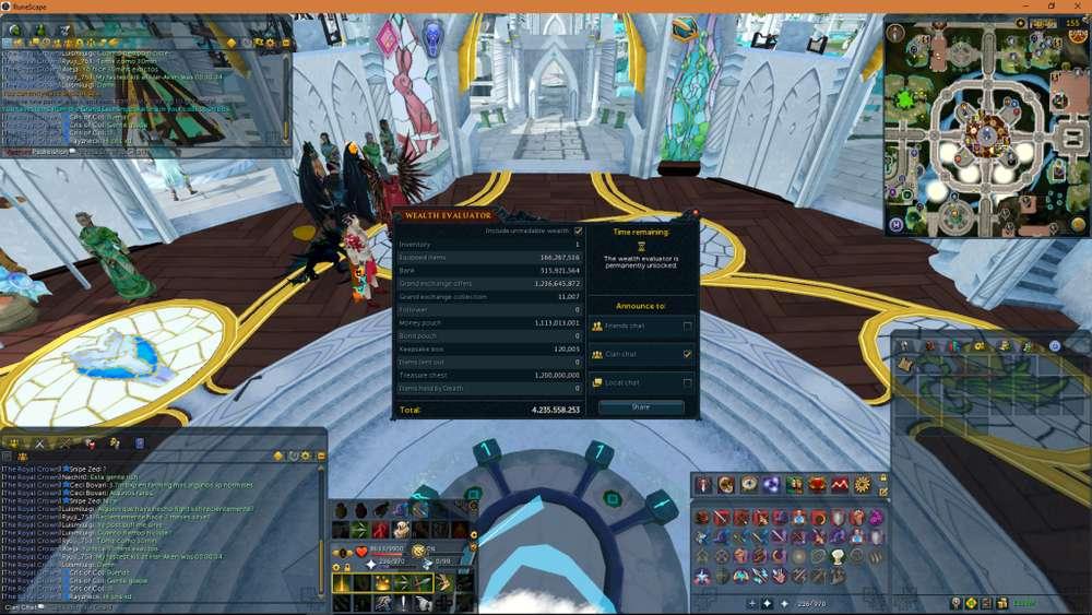 RuneScape 3 Gold Quests Comp Trimmed Lvls Bosses