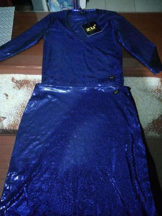 Falda Y Polo Tipo Blusa