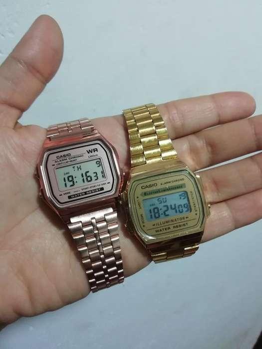 Reloj Casio Retro Dorado, Rosa