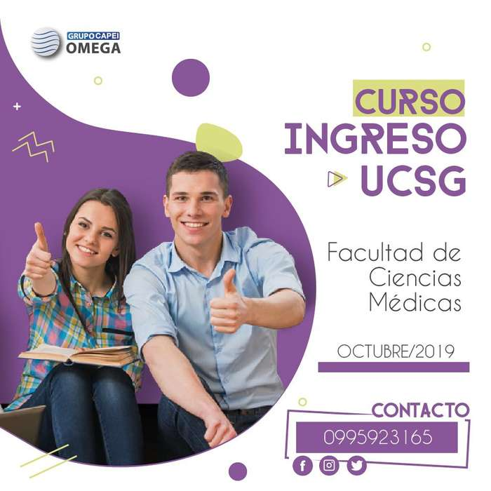 Curso de Capacitación para rendir el examen de ingreso a la Facultad de Ciencias Médicas de la UCSG.