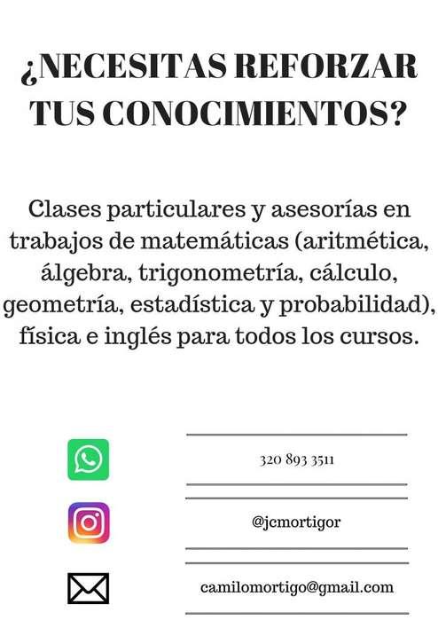 Tutorías académicas escolares en Bogotá y municipios de la Sabana.
