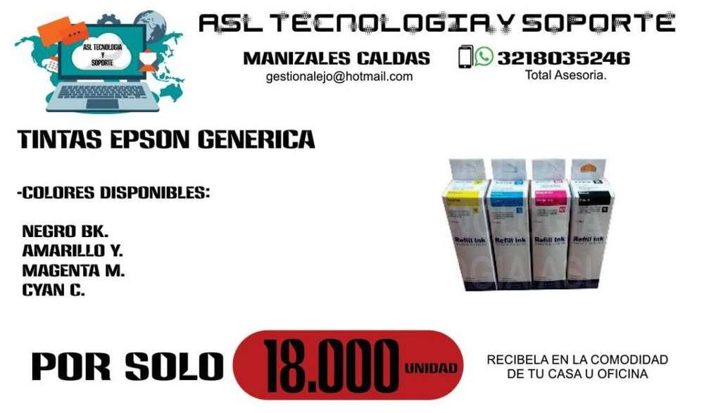 Tintas Genericas Para EPSON Impresora Sistema de recarga continuo