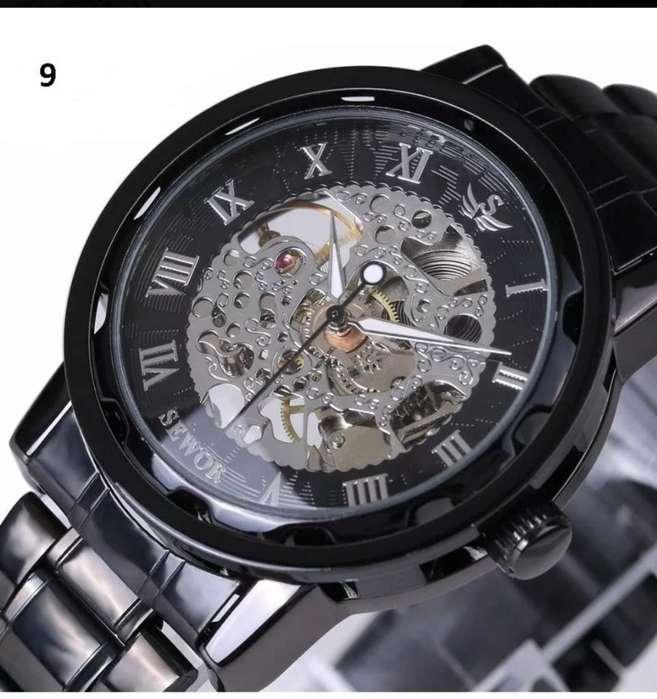 Reloj Elegante Caballero Corazon Abierto