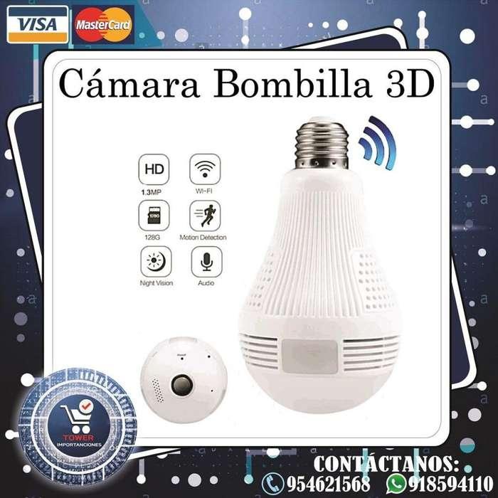 Cámara Bombilla 3D FishEye 180º/360º