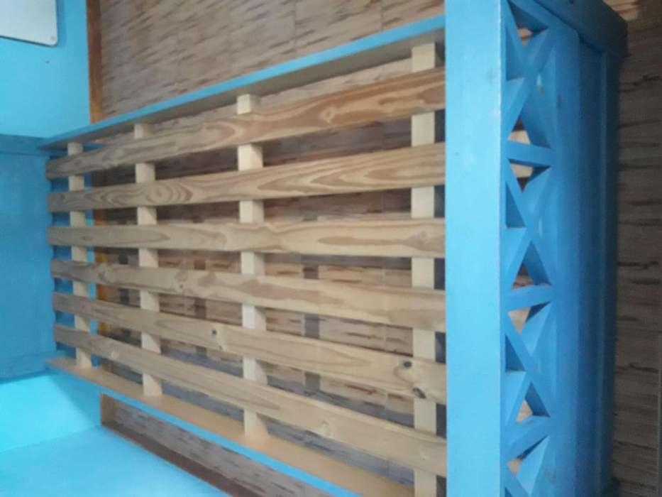 Cama de madera de Pino Usada De 1 Plaza
