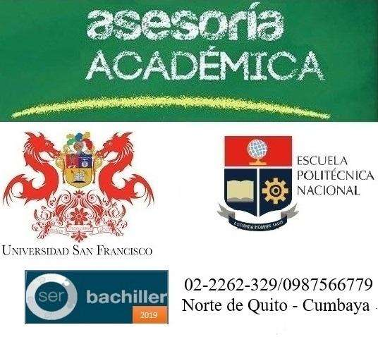 Remediales, Matemáticas, Física, Química, Biología,Bachillerato Internacional, College board USFQ.