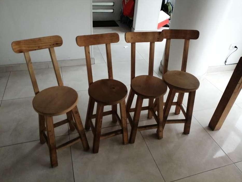 Vendo 4 <strong>sillas</strong> Artesanales de Madera