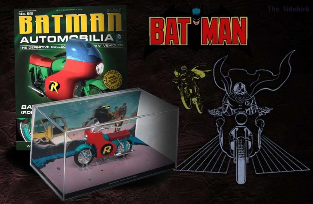 ROBIN BIKE / BATMAN AUTOMOBILIA ISSUE 062 / batmobile, batimóvil, batimoto, Robin moto