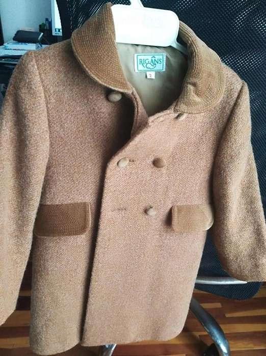 Vendo abrigo de paño impecable