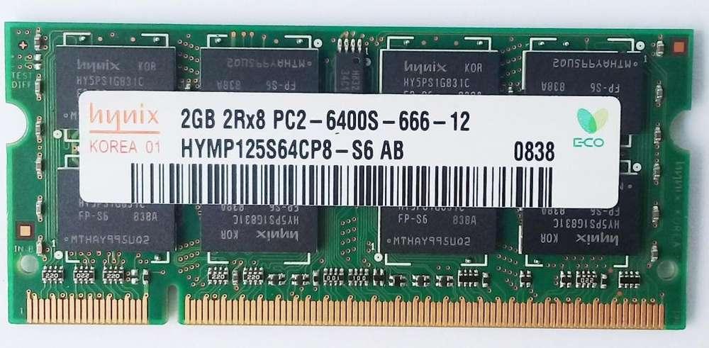 Memoria Ram Hynix 2rx8 Pc2-6400s - 666-12 Korea 01