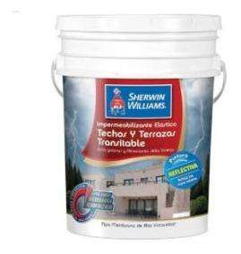 Pintura Impermeabilizante Techos/terrazas Blanco Sher.williams 20lts