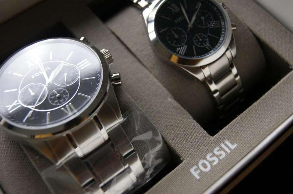 Pareja de Relojes FOSSIL Hombre - Mujer Oferta especial 275 usd