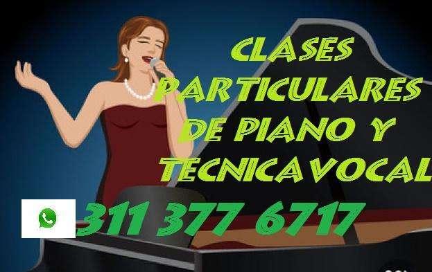 CLASES DE TÉCNICA VOCAL Y PIANO A DOMICILIO