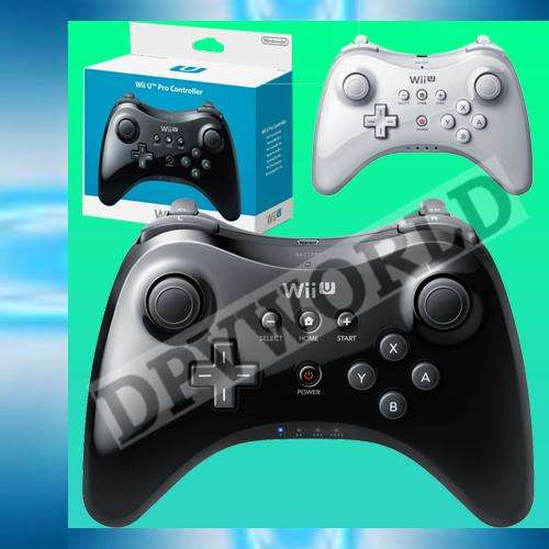 Control Pro Nintendo Wii U Inalambrico Caja Cable Carga