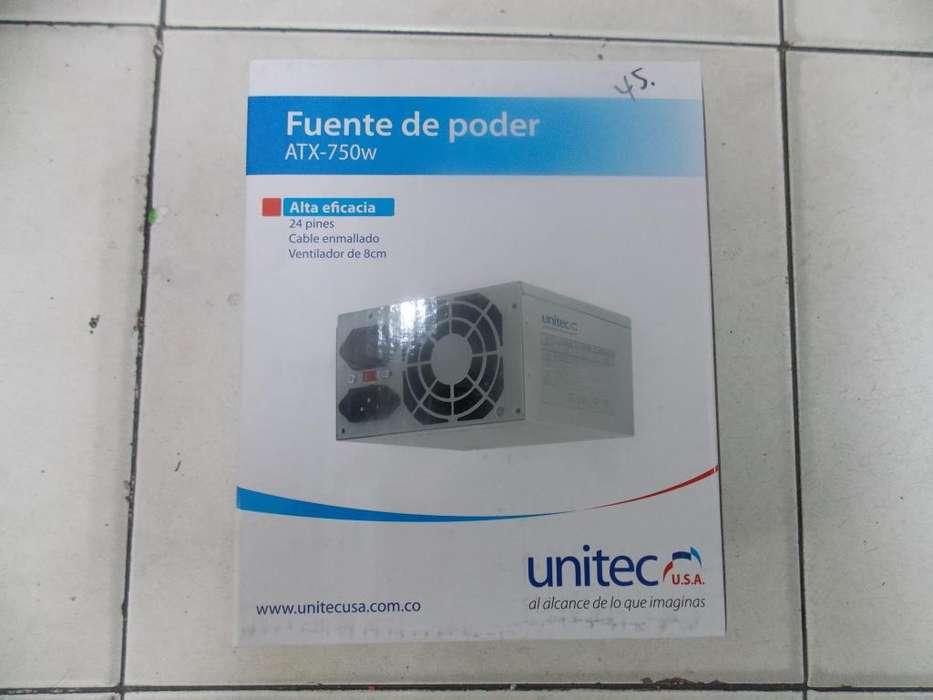 FUENTE DE PODER ATX 750W 24 PINES