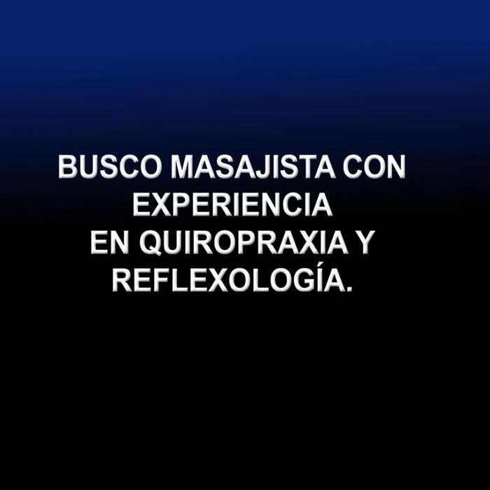CONTRATO MASAJISTA CON TITULO EN QUIROPRAXIA Y REFLEXOLOGÍA.