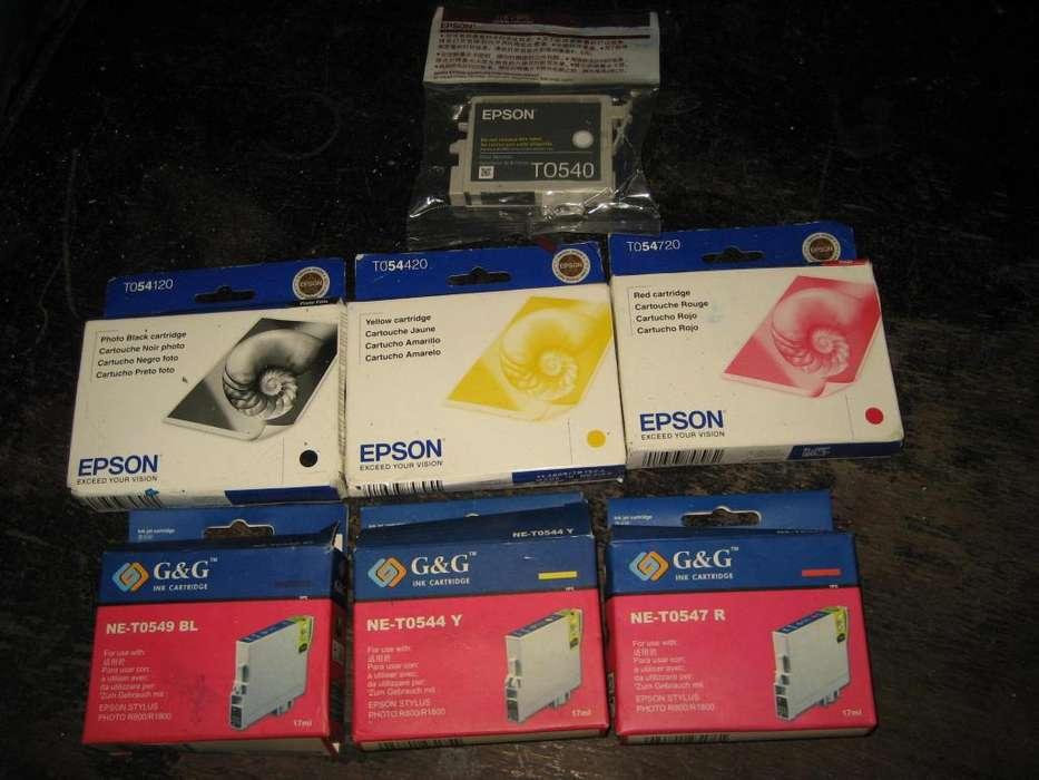 cartuchos de tintas epson r800,r1800 todos juntos