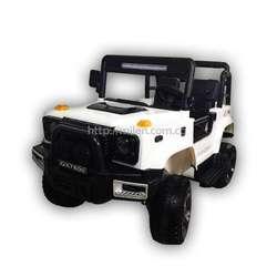 Mini Carro Eléctrico Para Niños Jeep Blanco