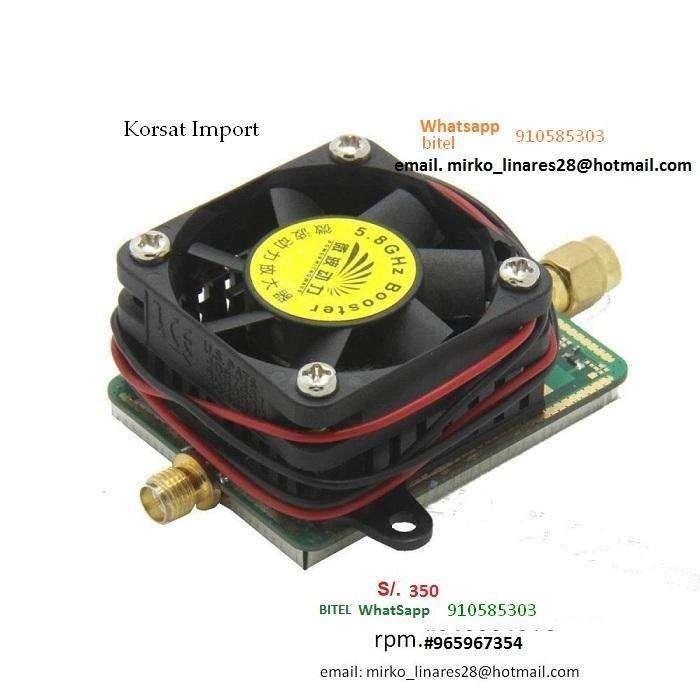 Amplificador, 5.8 Ghz. Poder hasta 2500 mw, Audio Video, 20 KM a Mas, señal contundente